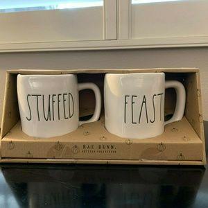 NIB! Rae Dunn Set of 2 Ceramic Coffee Mugs